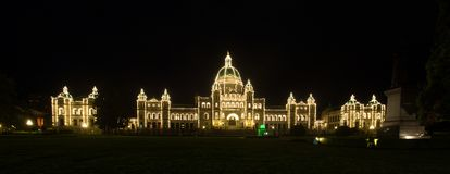British Colombia Parliament building. The British Colombia Parliament building at night in Victoria Stock Photos
