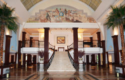 The British Colonial Hilton Lobby in Nassau, Bahamas Stock Images