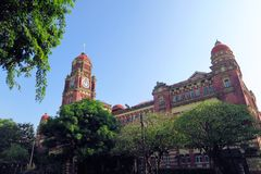 British colonial palace in Yangon, Myanmar Royalty Free Stock Photography
