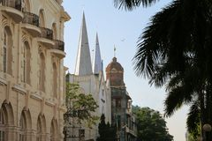 British colonial palace in Yangon, Myanmar Royalty Free Stock Images