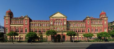 British colonial palace in Yangon, Myanmar Stock Photos