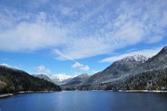 British Columbia Canada. Capilano Lake - Vancouver, British Columbia Royalty Free Stock Images
