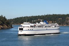 British Columbia Ferry, Active Pass Royalty Free Stock Photos