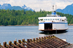 British columbia ferry, earls cove Royalty Free Stock Photos