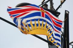 British Columbia Flag Stock Photo