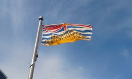 British Columbia Flag. The flag of the Canadian province of British Columbia Stock Photos