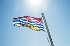 British Columbia flag Royalty Free Stock Photos