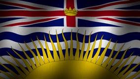 British Columbia flagga vektor illustrationer
