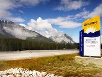 British Columbia Highway, Welcome to BC Stock Photo