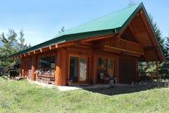 British Columbia mountain cabin Stock Photos