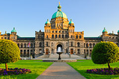 British Columbia parlament Royaltyfri Fotografi