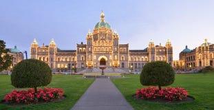 British Columbia parlamentbyggnader Arkivbilder