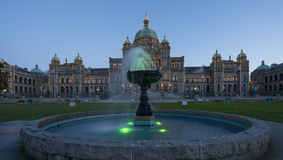 British Columbia Parliament Building. Victoria, BC Canada - April, 26th 2017. British Columbia Parliament building, located in Victoria, is home to legislative Royalty Free Stock Photos