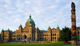 British Columbia Parliament Building, Victoria, Canada. The British Columbia Legislature Building, in Victoria Royalty Free Stock Photo