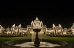British Columbia Parliament Buildings. Victoria BC Canada at Night Stock Photos