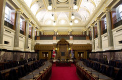 British Columbia Parliament Buildings interiors Stock Images
