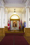 British Columbia Parliament Buildings interiors Stock Image