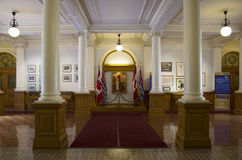 British Columbia Parliament Buildings interiors Royalty Free Stock Images