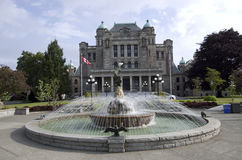 British Columbia Parliament Buildings. The British Columbia Parliament Buildings are located in Victoria, British Columbia, Canada and are home to the Stock Images