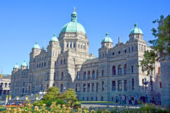 The British Columbia Parliament Buildings. VICTORIA, BC, CANADA, JUNE 23 2015 The British Columbia Parliament Buildings are home to the Legislative Assembly of Royalty Free Stock Images