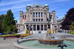 The British Columbia Parliament Buildings Stock Photography