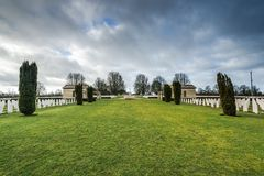 British and Commonwealth War Cemetery in Bayeux,France Royalty Free Stock Photos