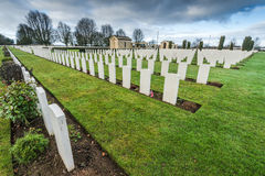 British and Commonwealth War Cemetery in Bayeux,France stock photo