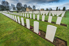 British and Commonwealth War Cemetery in Bayeux,France Stock Image
