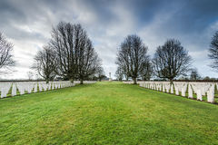 British and Commonwealth War Cemetery in Bayeux,France Stock Photos