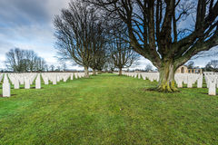 British and Commonwealth War Cemetery in Bayeux,France Royalty Free Stock Images
