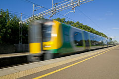 British Commuter Train Royalty Free Stock Photos