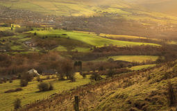 British countryside. Typical britsh countryside landscape of the Peak District, North West England Royalty Free Stock Images