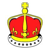 British crown icon cartoon Stock Images