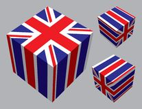 British Cubes. British flag extruded and mapped onto 3 cubes royalty free illustration