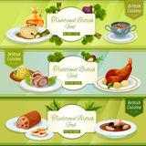 British cuisine banner for restaurant menu design Stock Images