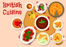 Free British Cuisine Lunch Dishes Icon Design Stock Images - 89435794