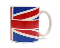 British cup. Cup with british flag isolated on white Royalty Free Stock Images