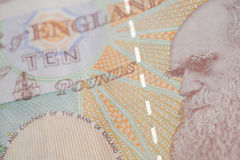 British Currency. A close up of Charles Darwin on the back of a ten pound note Stock Photos