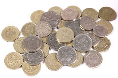 British currency coins Royalty Free Stock Photography
