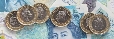 British Currency 2017 Royalty Free Stock Images