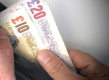 British currency notes Royalty Free Stock Images