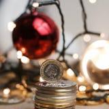 One pound coin Royalty Free Stock Photo