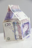 British Currency. Property Investment. A house made of twenty pound notes Stock Images