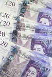 British Currency. Twenty pound notes from the bank of England Royalty Free Stock Image