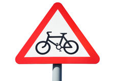 A British cycle route sign. Royalty Free Stock Image