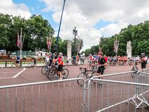 British Cycling Tournament. The British Cycling ring belongs to Duorisai, moved around in the UK to racing in. The competition dates back to the first British Royalty Free Stock Photography