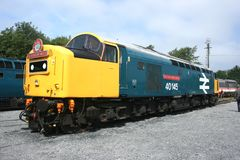 British Diesel Locomotive Class 40 No 40145 `East Lancashire Railway` at West Coast Railways Carnforth Depot Open Day, Lancashir. E, UK - 27th July 2008 stock photography