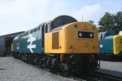 British Diesel Locomotive Class 40 No 40145 `East Lancashire Railway` at West Coast Railways Carnforth Depot Open Day, Lancashir. E, UK - 27th July 2008 royalty free stock photo