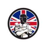 British DIY Expert Union Jack Flag Icon Royalty Free Stock Images