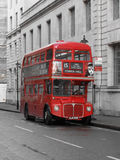 British double decker bus. LONDON, UK - CIRCA NOVEMBER 2009: British red double decker bus Royalty Free Stock Images